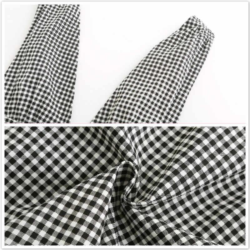 платье летнее женское 2019 обтягивающее платье v-образный вырез платья больших размеров одежда для пляжа короткое платье без рукавов клетчатое платье с открытой спиной сарафан женский летний 81987