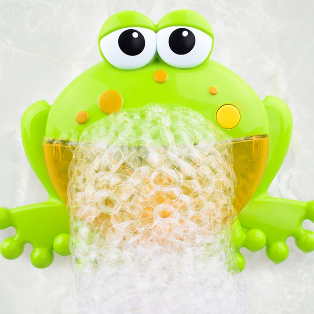 Automatic Bubble Machine Blower Cartoon Cute Frog  Baby Bath ToyMake Party Summer Outdoor Toy Bubble Generate Toy For Kids