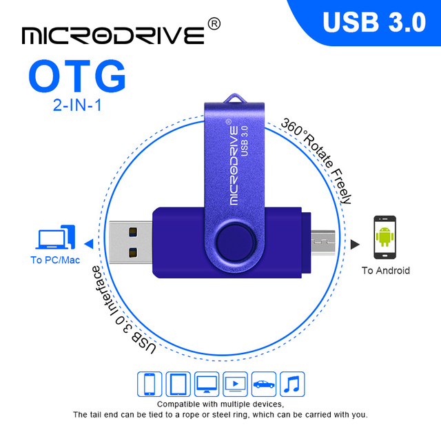 Colorful Metal Whirl USB Flash Drive Otg USB 3.0 Drive 32g 16g Real Capacity 128g 64g Memory pendrive for Mobile Phone/Laptop 4