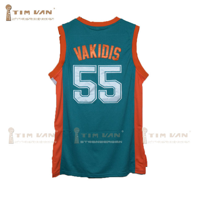 e0a9d9bd6cc7 TIM VAN STEENBERGEB Vakidis 55 Flint Basketball Jersey All Sewn-Green. 55  55001. All letters and numbers are sewn and stitched on the jerseys.