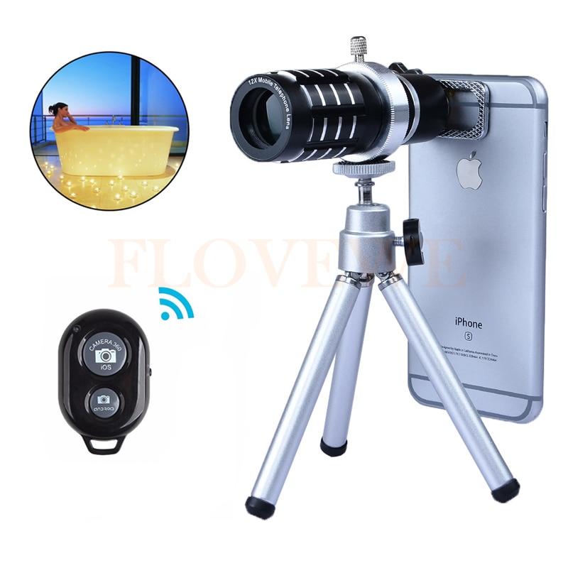 Phone Camera Lentes Kit 12x Zoom TelephotoTelescope Lens