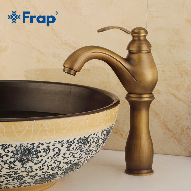 FRAP Heightening Basin Faucets Single Handle Hot & Cold Washbasin Tap Bathtub Faucet Brass Bathroom Faucet Mixer Sink Tap Y10072FRAP Heightening Basin Faucets Single Handle Hot & Cold Washbasin Tap Bathtub Faucet Brass Bathroom Faucet Mixer Sink Tap Y10072