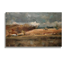 Simple impressionist landscape oil painting. painted wall art, free shipping painting the impressionist landscape