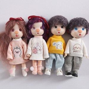 Одежда для кукол Ob11 obitsu 11, толстовка с капюшоном, 1/12 г., одежда с красивым узлом, Свинкой, с круглой головкой, Аксессуары для платья