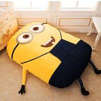 1.2x1.8m/1.2x2.0m Minions Cartoon Sofa Bed Single Sleeping Beanbag For Adult Or Child Kids Nap Mattress Cushion Lazy Bean Bag