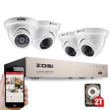 ZOSI 8CH TRUE 1080P HD TVI DVRเครื่องบันทึกHDMI 4X 1980TVLกล้องวงจรปิดรักษาความปลอดภัยในร่มกลางแจ้งระบบกล้องโดม