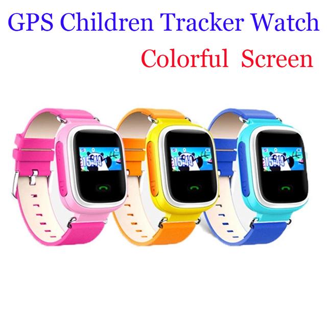 Niños Security Essentials 2016 Nueva Perdido Anti GPS Tracker Reloj Q60 Para Niños SOS de Emergencia Para IOS y Android Smartwatch