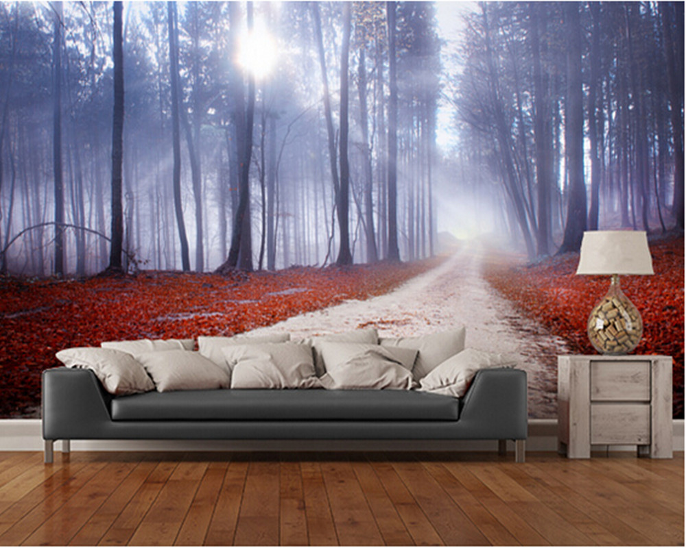 Custom natural wallpaper, Mystical Forest Road,3D wallpaper murals for living room bedroom restaurant background wall wallpaper