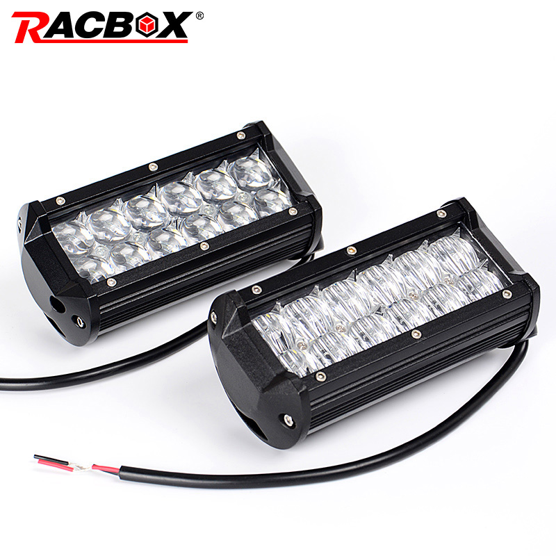 RACBOX 5D 7 Inch Off Road LED Work Light Bar Spot Flood Beam 36W 60W For ATV UTV 4WD SUV 4X4 Car Motocycle 12V 24V Working Light image