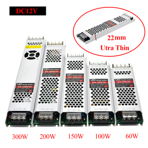 Image 2 - Ultra mince LED transformateurs alimentation DC 12 V bandes 100 W 150 W 200 W 300 W AC190 240V pilote pour ampoules néons à LED