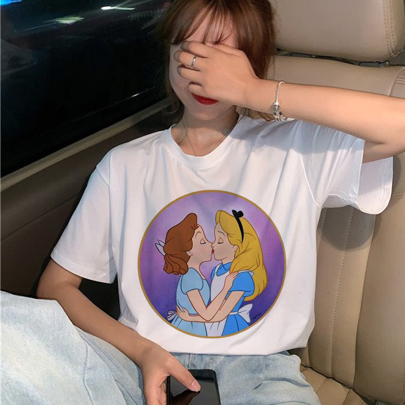 New Lgbt Gay Love Harajuku T Shirt Women Lesbian Ullzang 90s T Shirt Graphic Rainbow Love Is Love Tshirt Cartoon Top Tees Female
