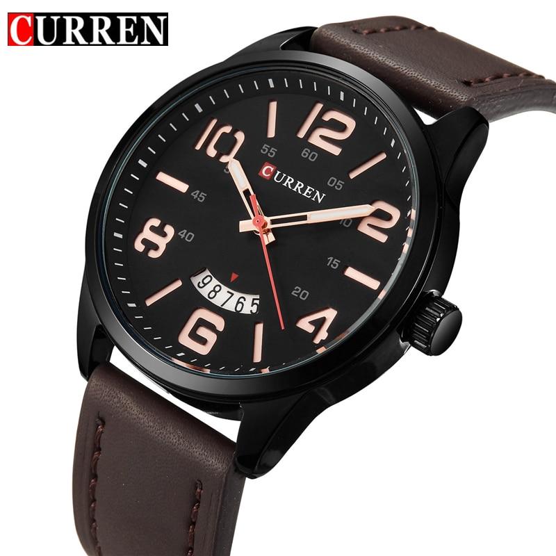 CURREN Fashion Casual Wrist Watch Men Luxury Brand Leather Strap Watches Men Quartz Army Military Wrist