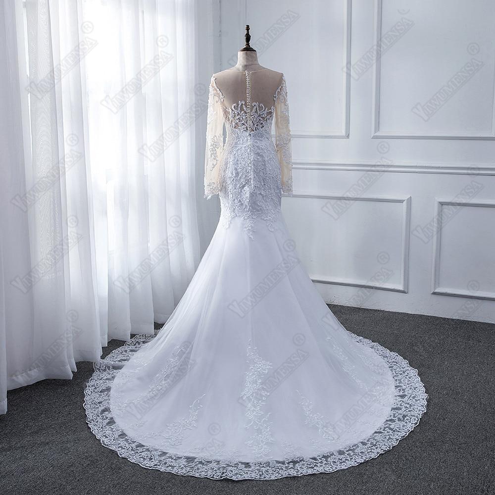 4b39f7176a Vestido de novia de 2018 Sexy sirena trompeta largo vestidos de boda  vestidos de novia trajes de novia ilusión