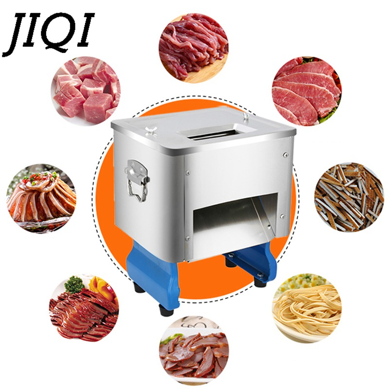 JIQI commercial electric Meat Grinders Multi functional meat cutting machine food slicing Diced