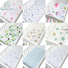 100% Cotton Crib Fitted Sheet Soft Baby Bed Mattress Cover Protector And Elastic Cartoon Newborn Bedding