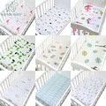 100% algodão berço equipado folha macia do bebê cama colchão capa protetor e elástico folha de cama dos desenhos animados recém-nascidos