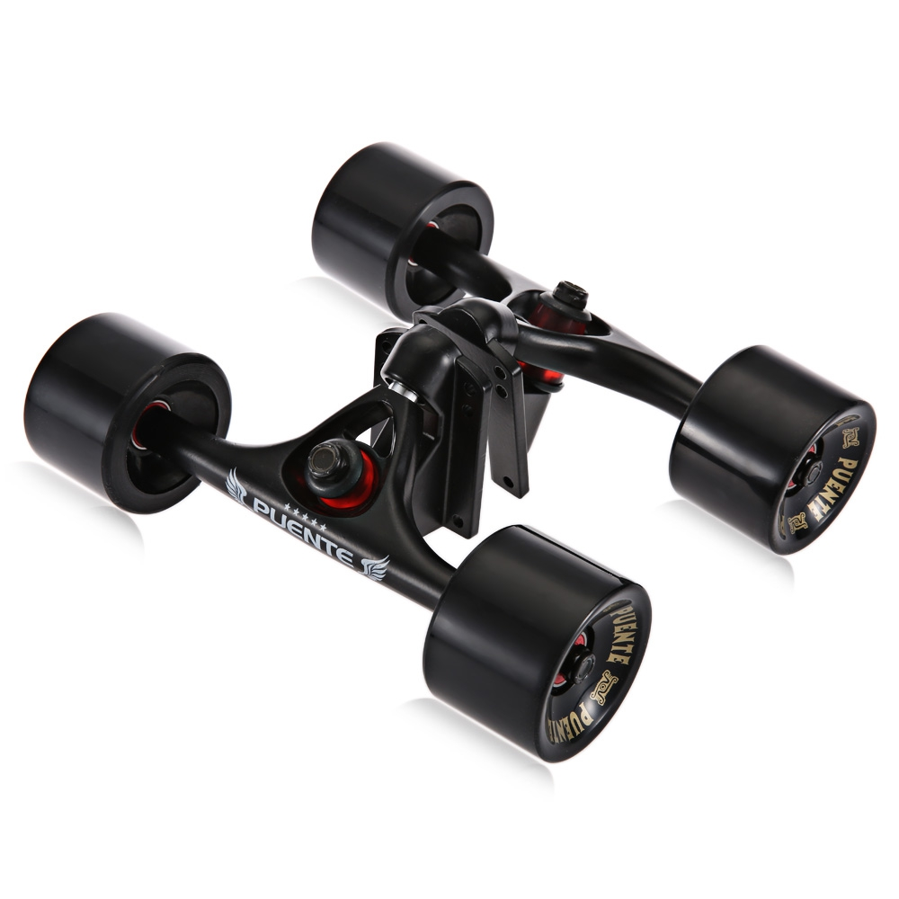 2pcs Skateboard Truck Wheels 4 Longboard Wheels Riser Pad ABEC 9 Bearing Bolt Nut Alloy Professional Bridge Skate Board Bracket