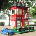 Модель строительство комплекты совместимы с lego Вилла серии-2 3D блоки Образовательные модели здания игрушки хобби для детей