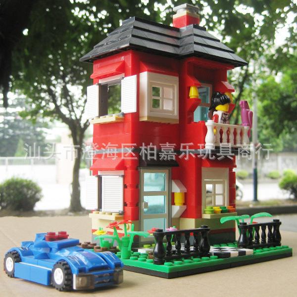 Kits de edificio modelo compatible con lego Villa series-2 3D modelo de construcción bloques Educativos juguetes y pasatiempos para niños