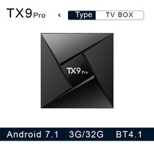 Tanix TX9 Pro TV Box Amlogic S912 Octa-core CPU Android 7.1 OS 4K Smart TVBOX 1000M LAN 3G RAM 32G ROM 5.8G WIFI Media Player