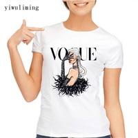 VOGUE Punk Princess Print T Shirt 2017 Summer Fashion Women T Shirt Funny Harajuku Short Sleeve