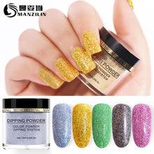 MANZILIN 10g/Bottle Shinning Glitter Dipping Powder Nail Decoration Dust NHDPL