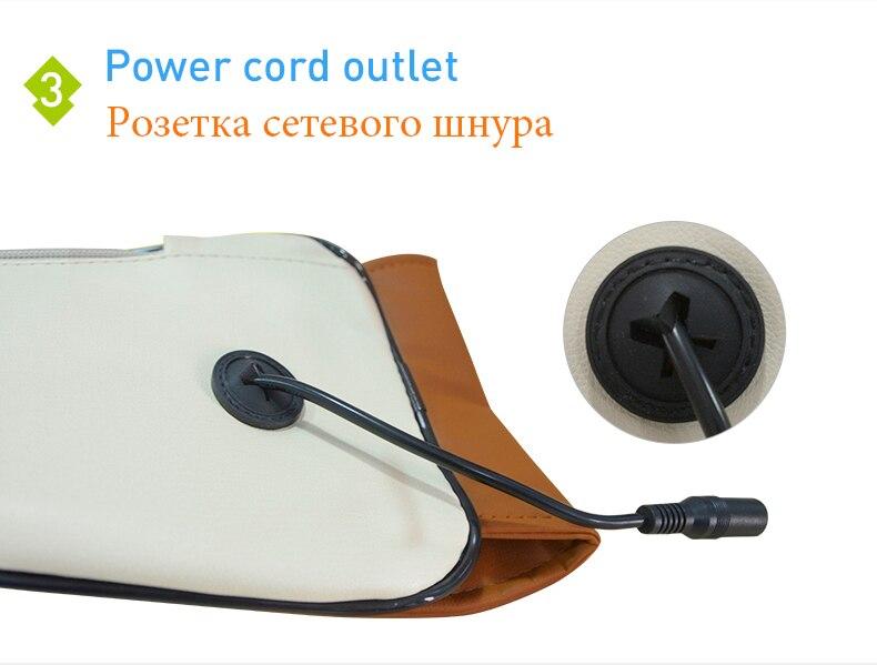 (with Gift Box)JinKaiRui U Shape Electrical Shiatsu Back Neck Shoulder Body Massager Infrared Heated Kneading CarHome Massagem 9