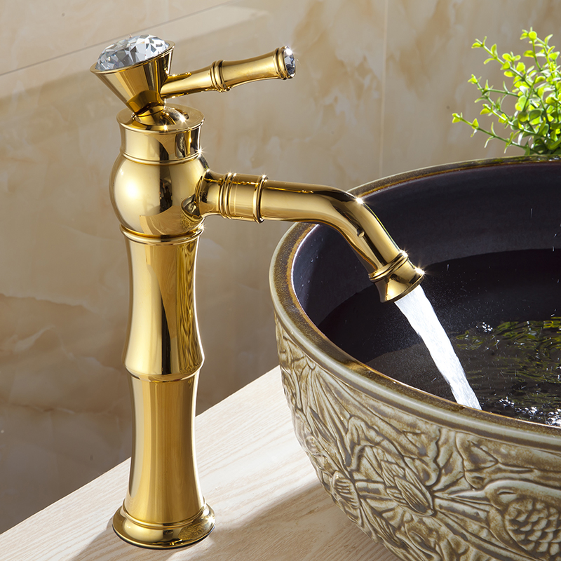 gold handle p single bathroom rose faucet one centerset hole brass
