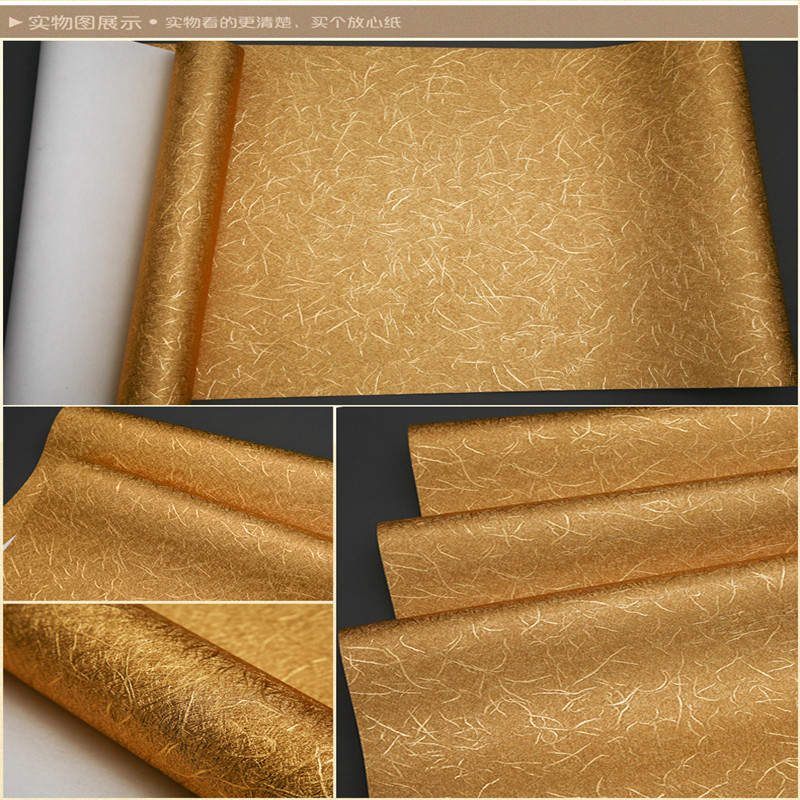 Papier peint doré feuille d'argent hôtel KTV Club clignotant réfléchissant brossé plafond papier peint - 6