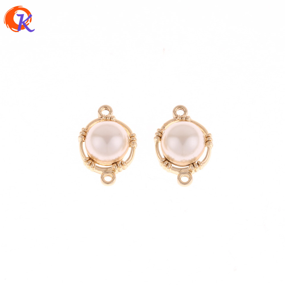 Cordial Design 100Pcs 13*19MM Jewelry Accessories/Gold Charms Pendant With Pearl/DIY/Earrings Making/Hand Made/Earring Findings