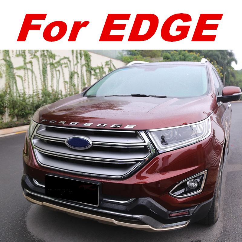 Ford Edge Name Chrome on Chrome Plate Stainless Steel License Plate