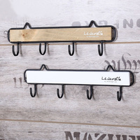 Creative Solid Iron Iron Wall Decorative Hooks Kitchenware Organizer Gloves Key Hooks Seamless Nail Installation