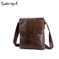 Cobbler Legend 2017 Genuine Leather Bag Men Bags Casual Flap Shoulder Crossbody Bags Men Handbags Messenger Men's Leather Bag