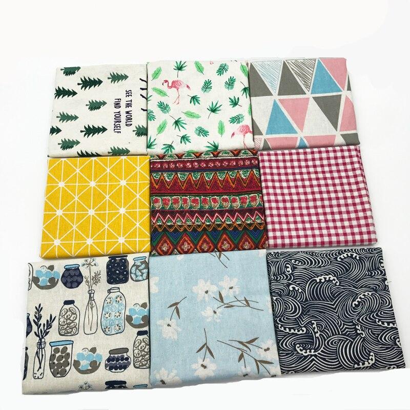 אתני סגנון כותנה פשתן רטרו בוהמיה בד DIY בעבודת יד טקסטיל תפירת טלאים עבור שקיות בגדי ספת שולחן בד HG01