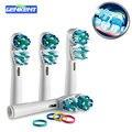 4 UNIDS Dual Clean SB417A cepillo de Dientes Eléctrico Oral B Reemplazo de Cabezas de Cepillo de Dientes de Higiene Cabezas Cuidado de Limpieza Herramientas de Los Dientes