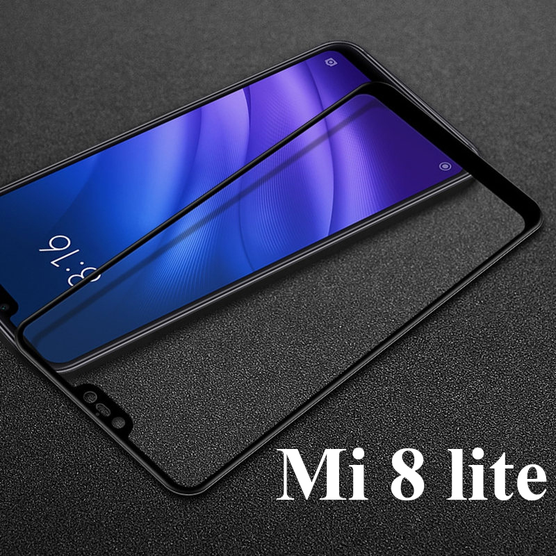 Protective Glass On For Xiaomi Mi 8 Lite Glass Screen Protector Cover On Xiami Xiomi Ksiomi Mi 8 Lite Mi8 8lite Life Light Film