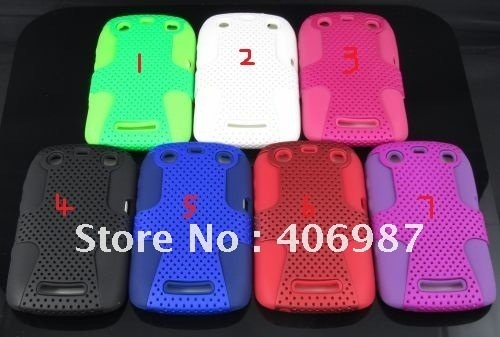 Free Shipping 50pcs/lot Mesh Combo Case cellphone case for BlackBerry Curve 9350 9360 9370