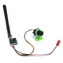 קל לשימוש 5.8G FPV סט וידאו 200/600mw משדר TS5823 ומיני CMOS 1000TVL מצלמה עם כבל סט מירוץ Drone fpv סט