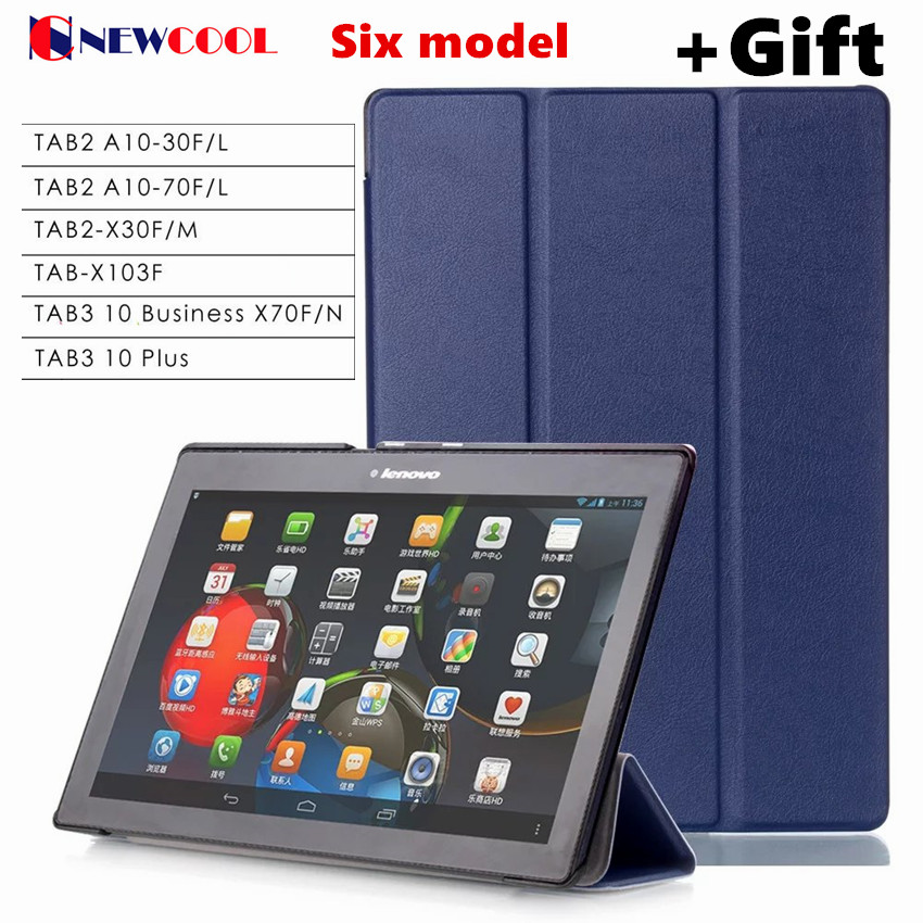 TB3-X70L A10-70F Tab3 10 plus business X70F/N PU leather case For Lenovo TAB 2 Tab2 X30 X30M A10-30f Tab-X103f 10.1 tablet case case for lenovo tab 4 10 plus protective cover protector leather tab 3 10 business tab 2 a10 70 a10 30 s6000 tablet pu sleeve 10