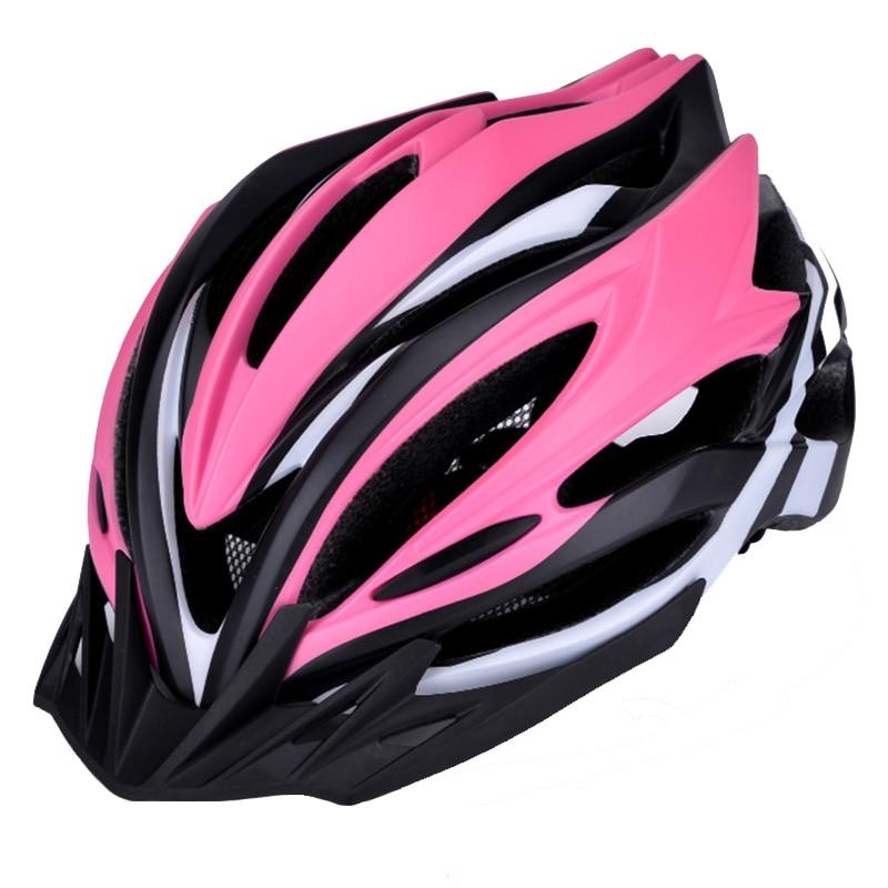 LED MTB Mountain Bicycle Helmet Men Women   Ultralight Helmet Bike Pink Integrally Molded Helmets OFF ROAD Mountain Bike Helmet|Bicycle Helmet| |  - title=