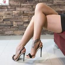 Original Intention Stylish Women Sandals Slingbacks Peep Toe Thin High Heels Sandals Fashion Shoes Summer Woman Plus Size 4-15 high quality women sandals stylish platform peep toe square heels sandals black beige nice shoes woman us size 3 5 10 5