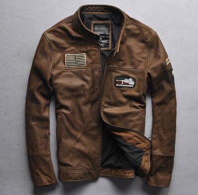 Véritable Chaude Solide Moto En Cuir D'hiver Collier L'usure Manteau Mode Stand À De Vente Veste Complet Hommes Mâle Black brown Manches Cowskin vmNn0w8