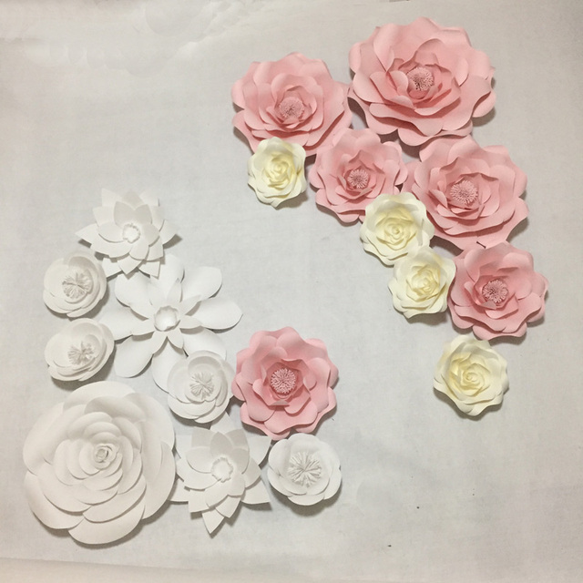 18pcs giant quality cardstock mix styles paper flowers for wedding 18pcs giant quality cardstock mix styles paper flowers for wedding photo backdrop props flores artificiais para mightylinksfo