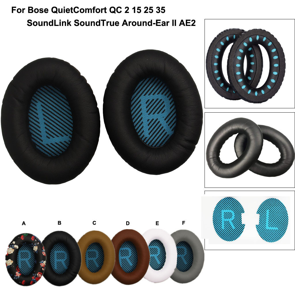 1Pair QuietComfort Ear Pad Quiet Comfort Soft Replacement For BOSE QC2 QC15 QC25 QC35 AE 2 2i 2w Headband Ear Pad Cushion Set