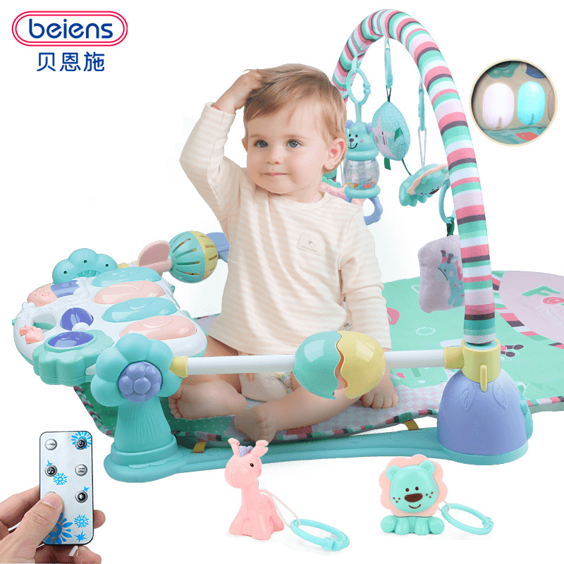 Beiens Baby Play Mat Infant Music Educational Game Pad Educational Piano Musical Gym Kids Crawling Carpet Toys Remote Control цена 2017