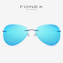 868f0746a0 Titanium Alloy Rimless Sunglasses Men Fashion Brand Designer Male Frameless  Korea Aviation Polarized Sun Glasses for