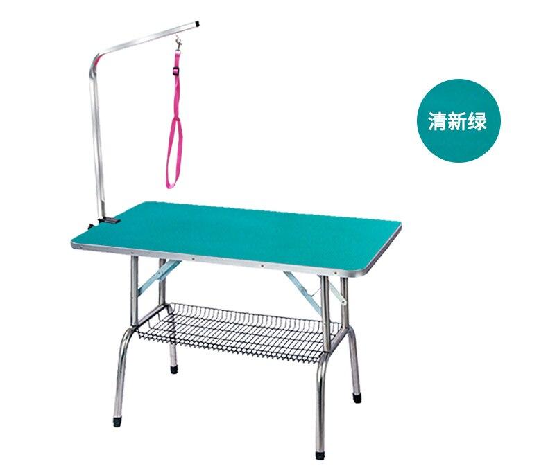 Дешевый складной стол для ухода за домашними животными из нержавеющей стали для маленьких питомцев, портативный Рабочий стол, резиновая поверхность, стол для ванной, голубой, розовый - 3