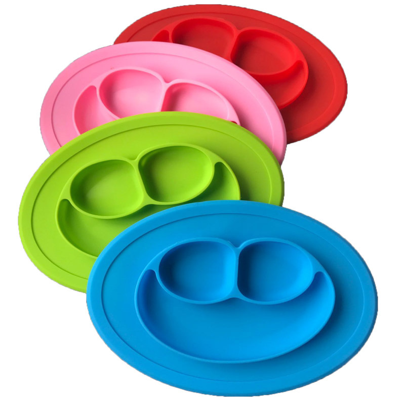Baby Feeding Plate Silicone Material Baby Infant Fruit Tray Dishes Children Snack Bowl Baby Tableware Dishes