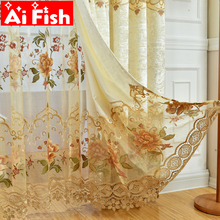 ФОТО custom embroidered blinds cortinas european white embroidered voile curtains for bedroom cortinas para sala de luxo wp321#30