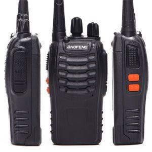 Image 4 - 2Pcs 4Pcs Baofeng BF 888S מיני מכשיר קשר UHF אינטרקום BF888S CB שתי דרך רדיו כף יד רדיו 888s + 4 אוזניות